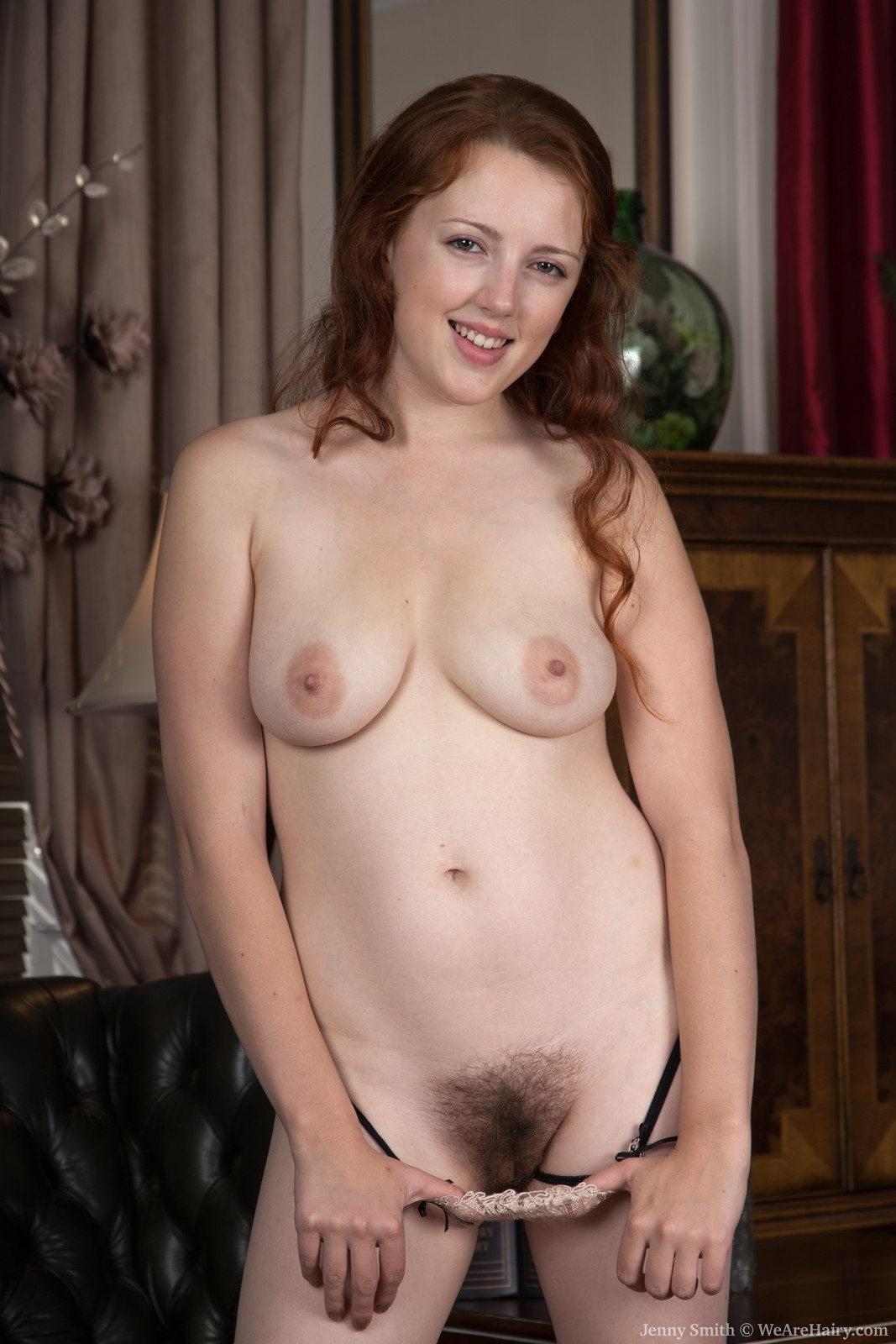 Redhaired slut Jenny Smith hairy pussy fun at reception