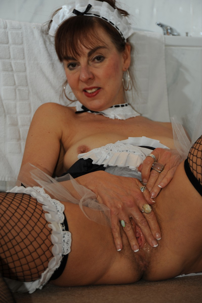 Mature french maid