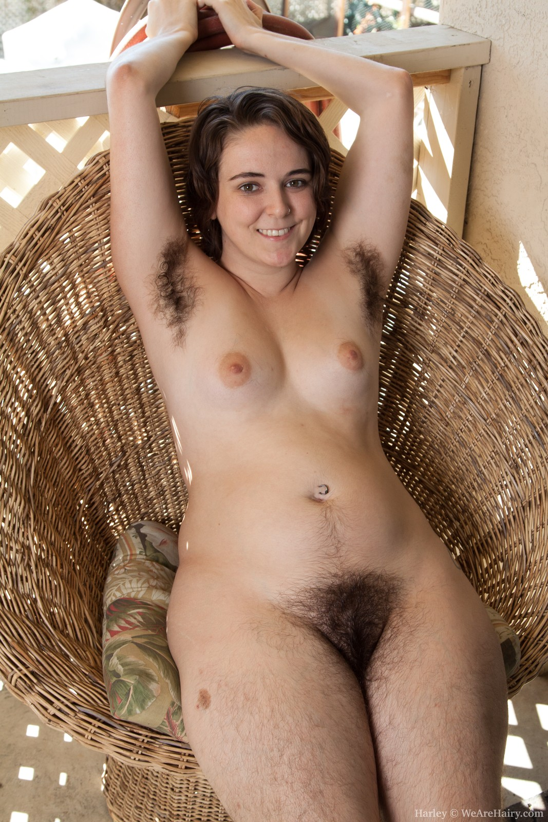 Super hairy girl