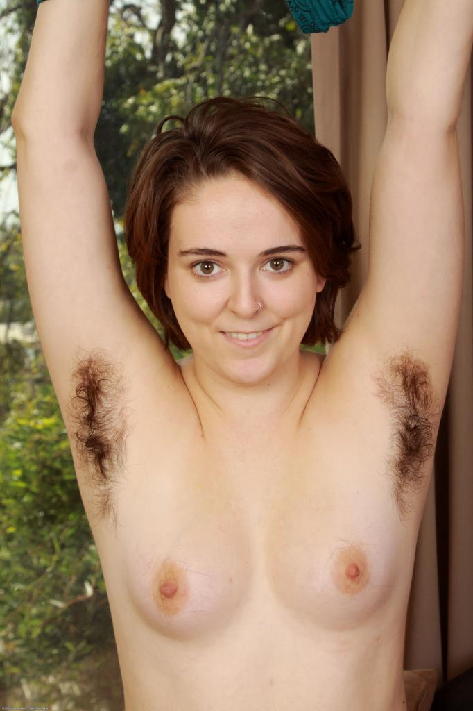 Harley Hex showing hairy armpits