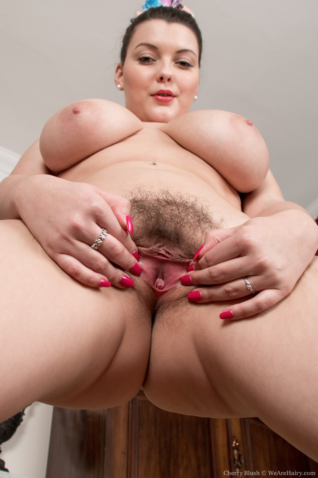 Blush cherry nude hairy