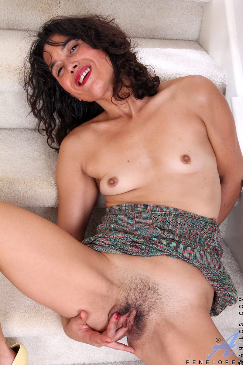 Nice milf with hairy holes