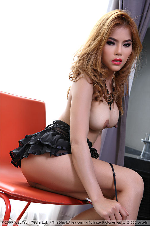 Useful Nude asain in black leather reply