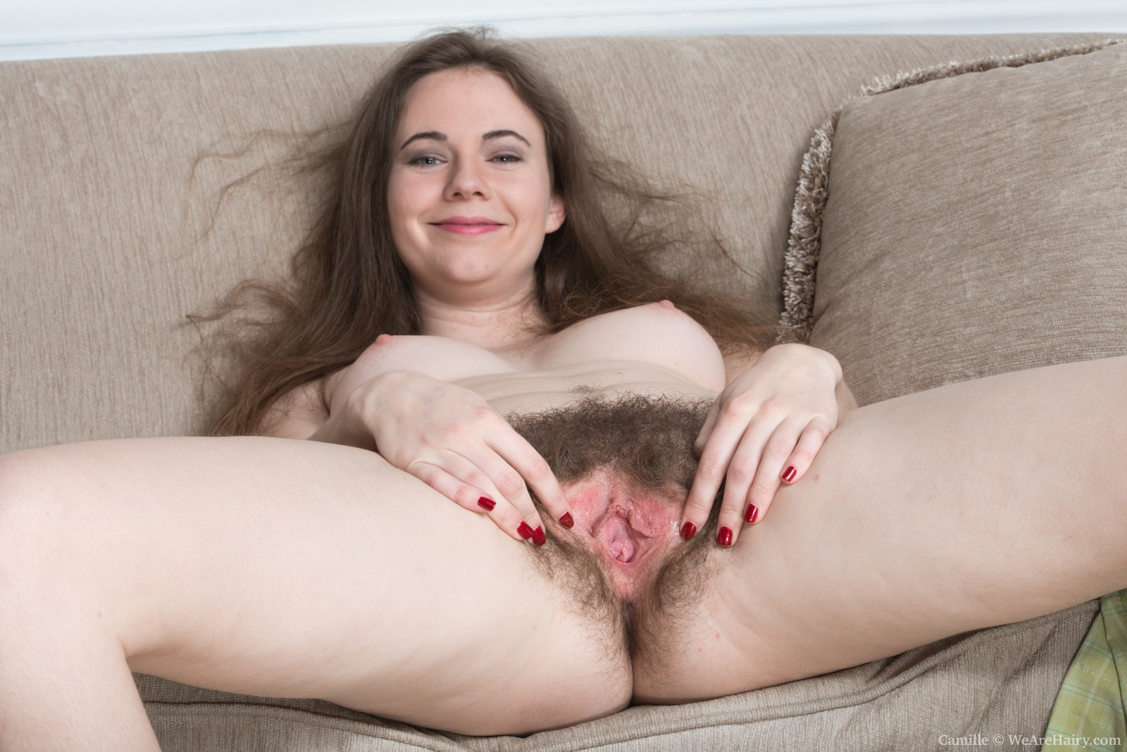 Nude hairy woman