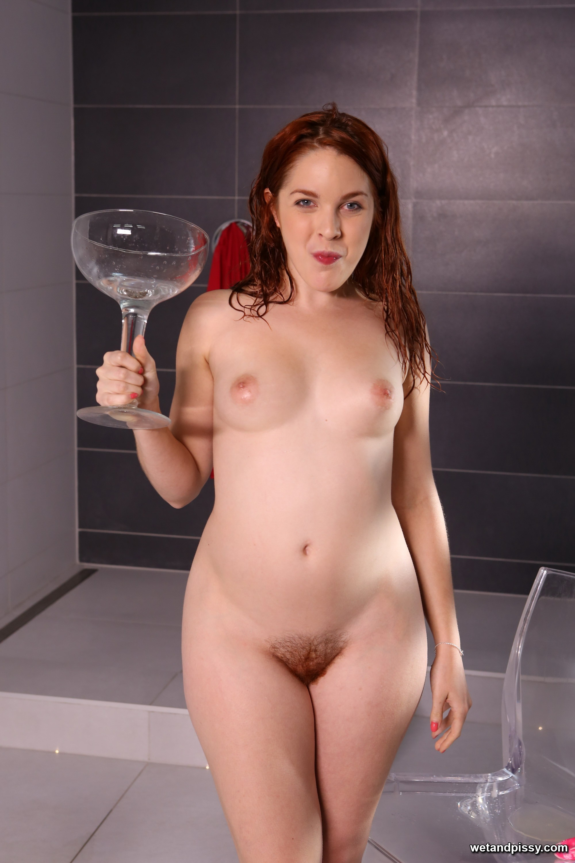 Amarna Miller drinks own golden pee