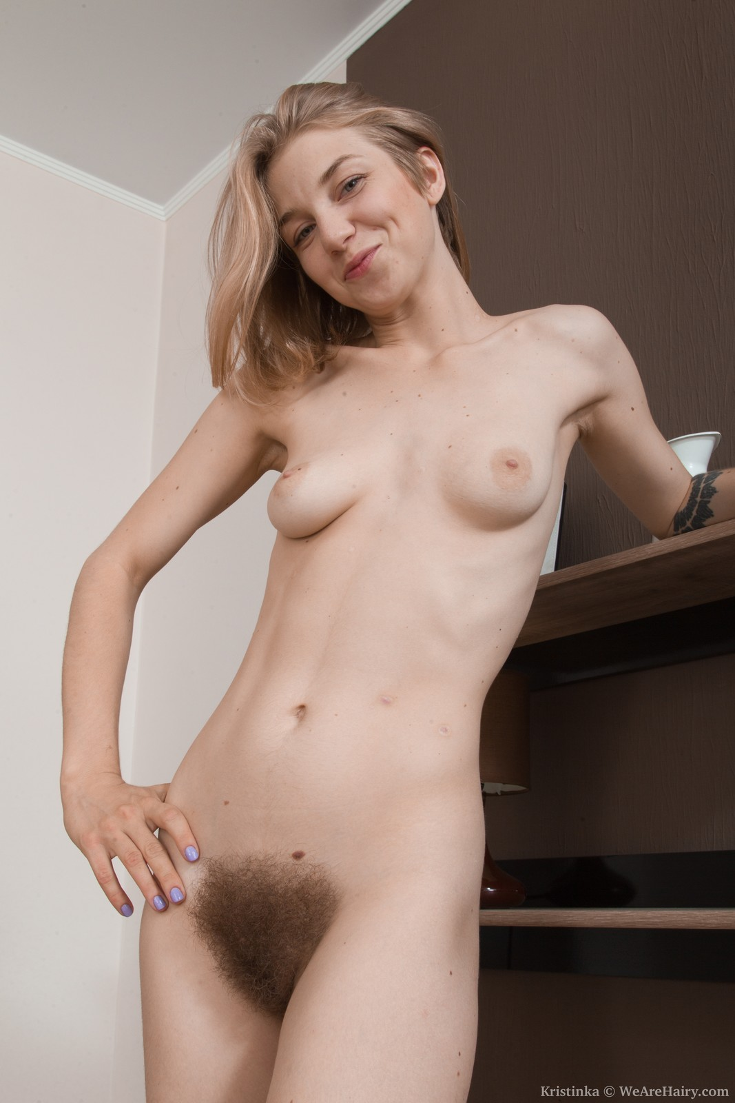Ukrainian hairy chick Kristinka