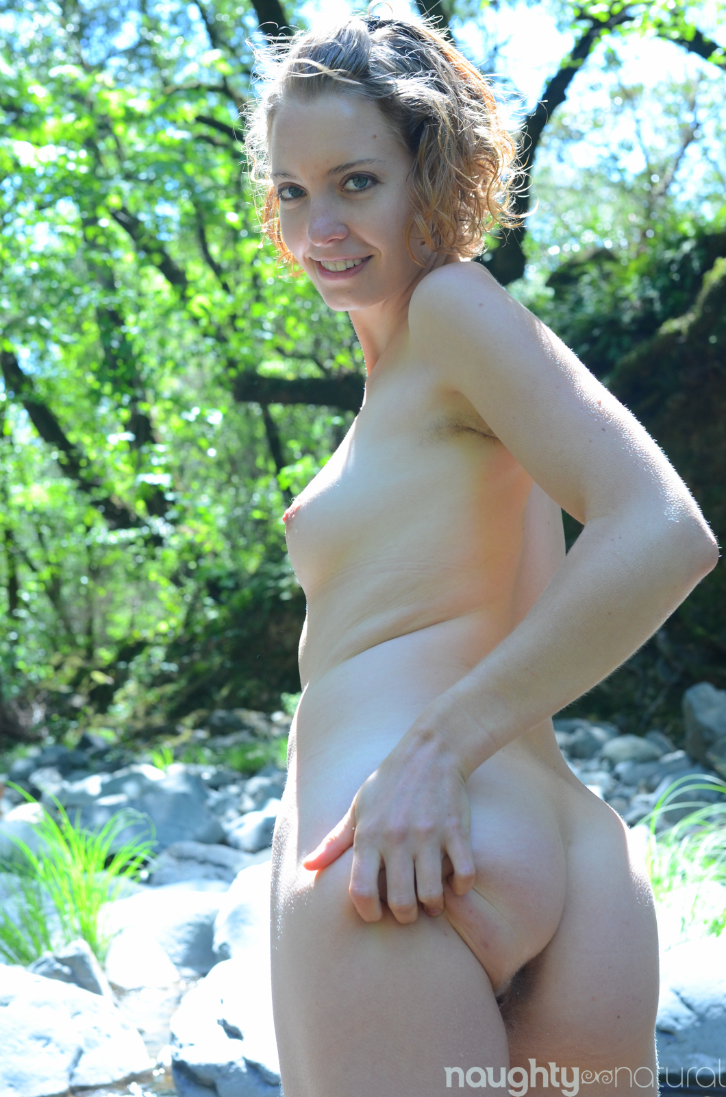 Natural hairy girl Kara D