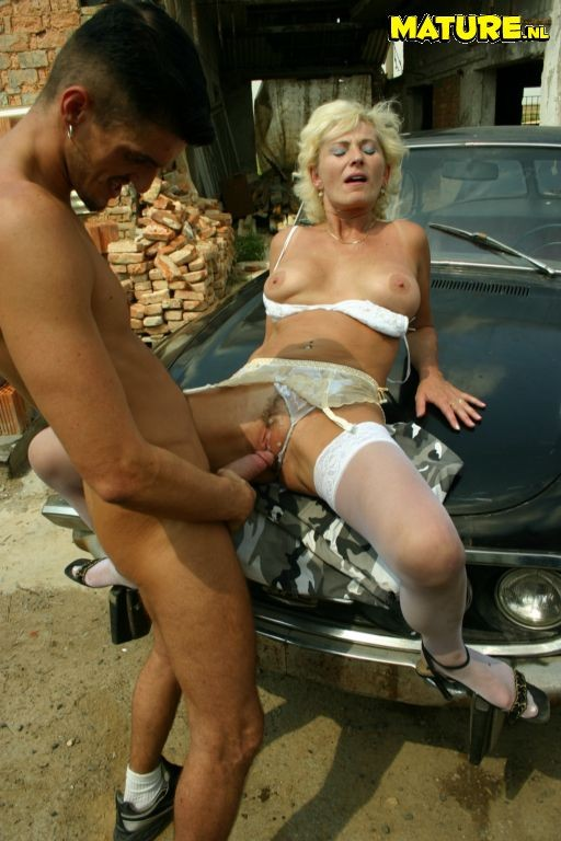 Old Woman Giving Blowjob