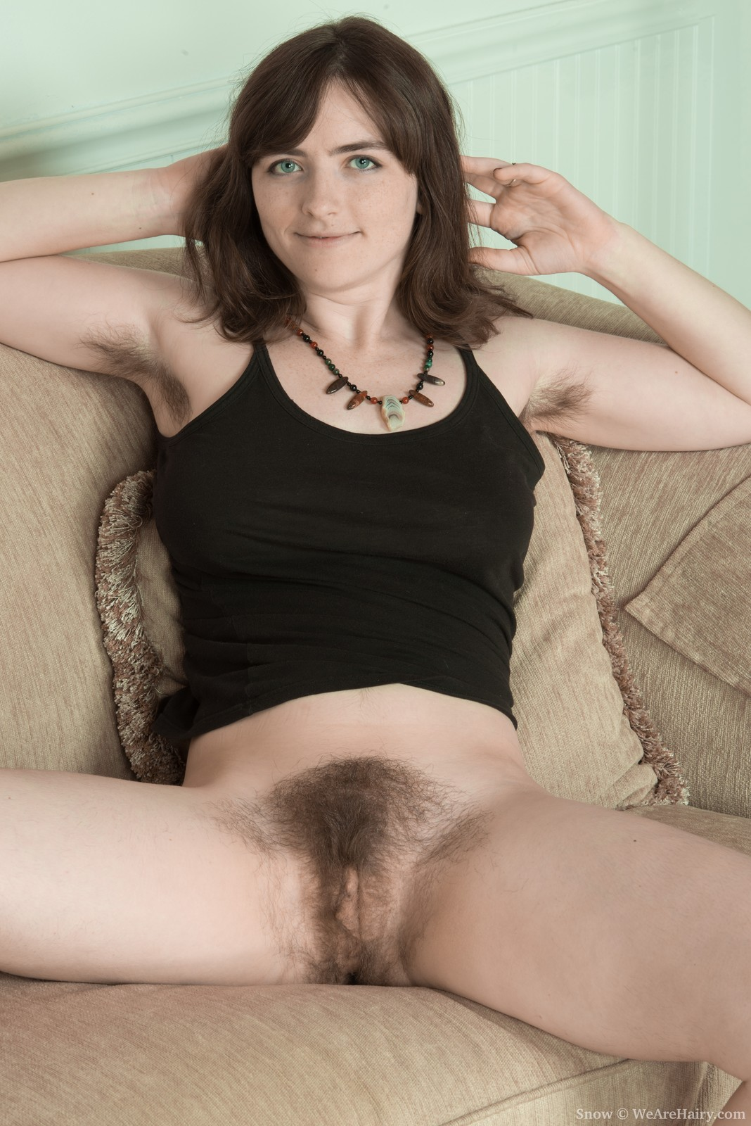 Girl shows off hairy pits