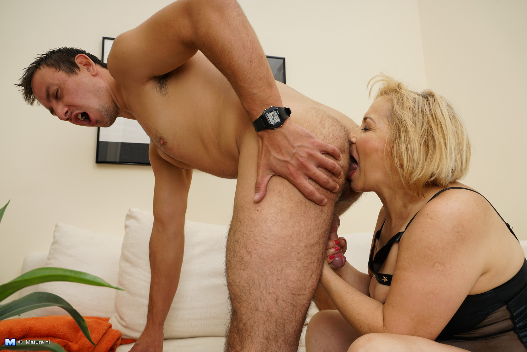 Naughty mature stepmom