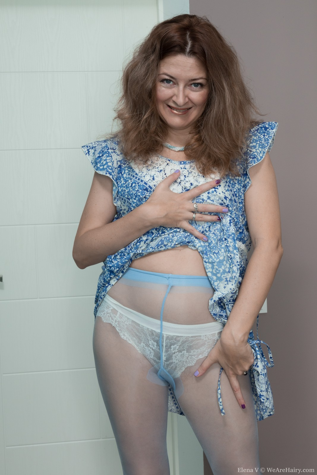 Russian hairy mature Elena