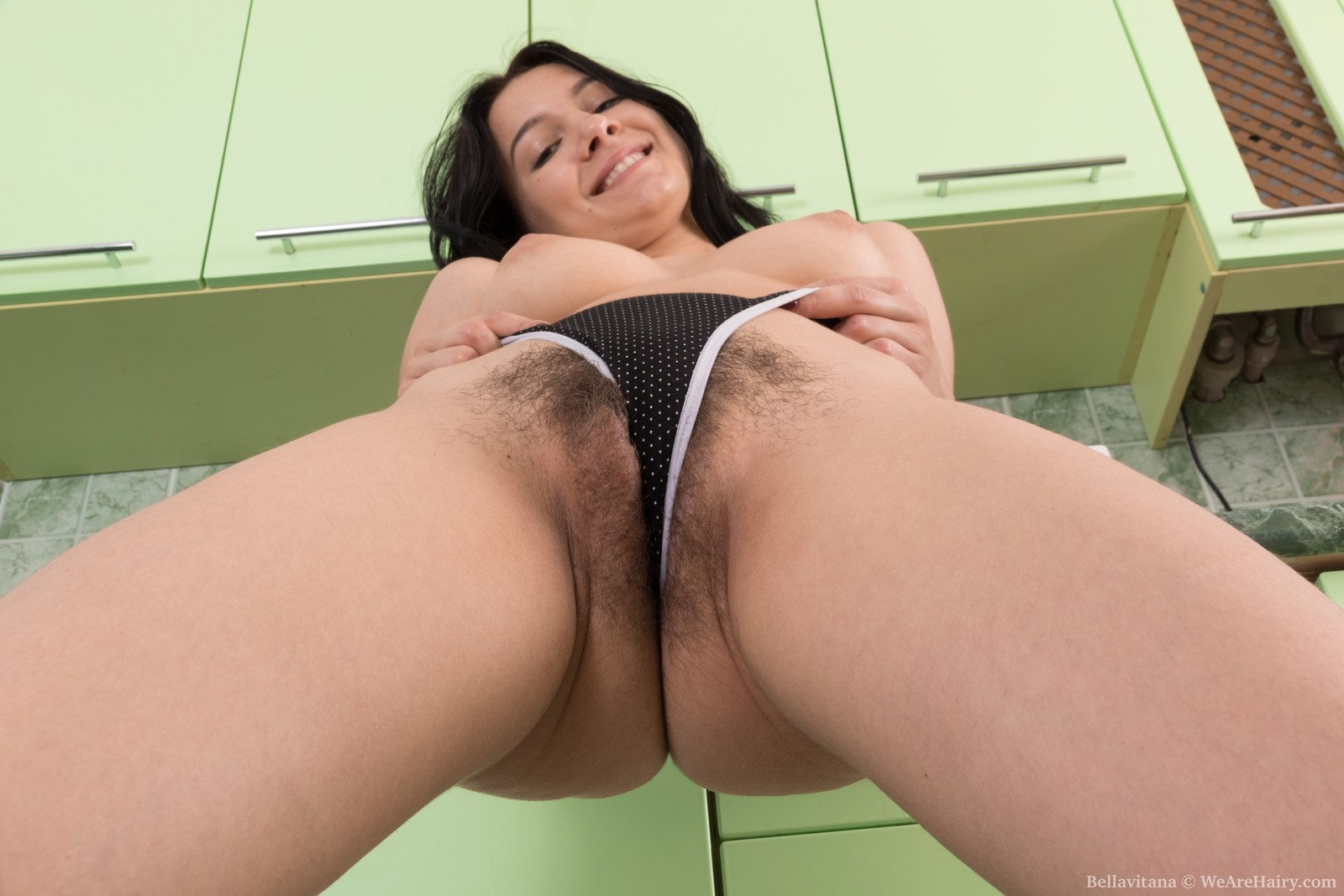 Bellavitana masturbates and strips in her kitchen