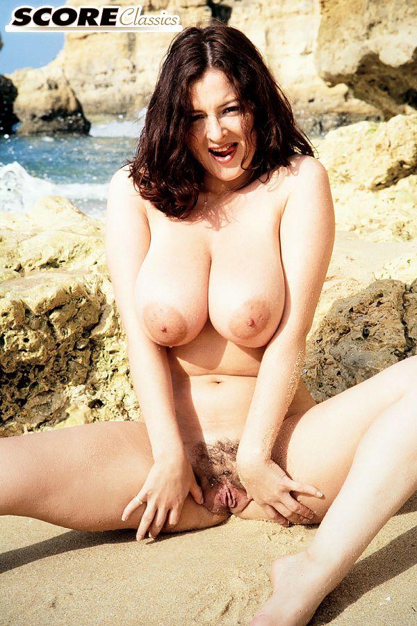 Lorna Morgan is at the beach