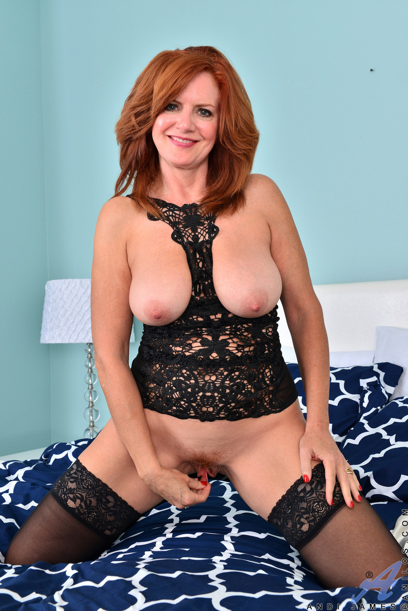 Stockings mature Andi James