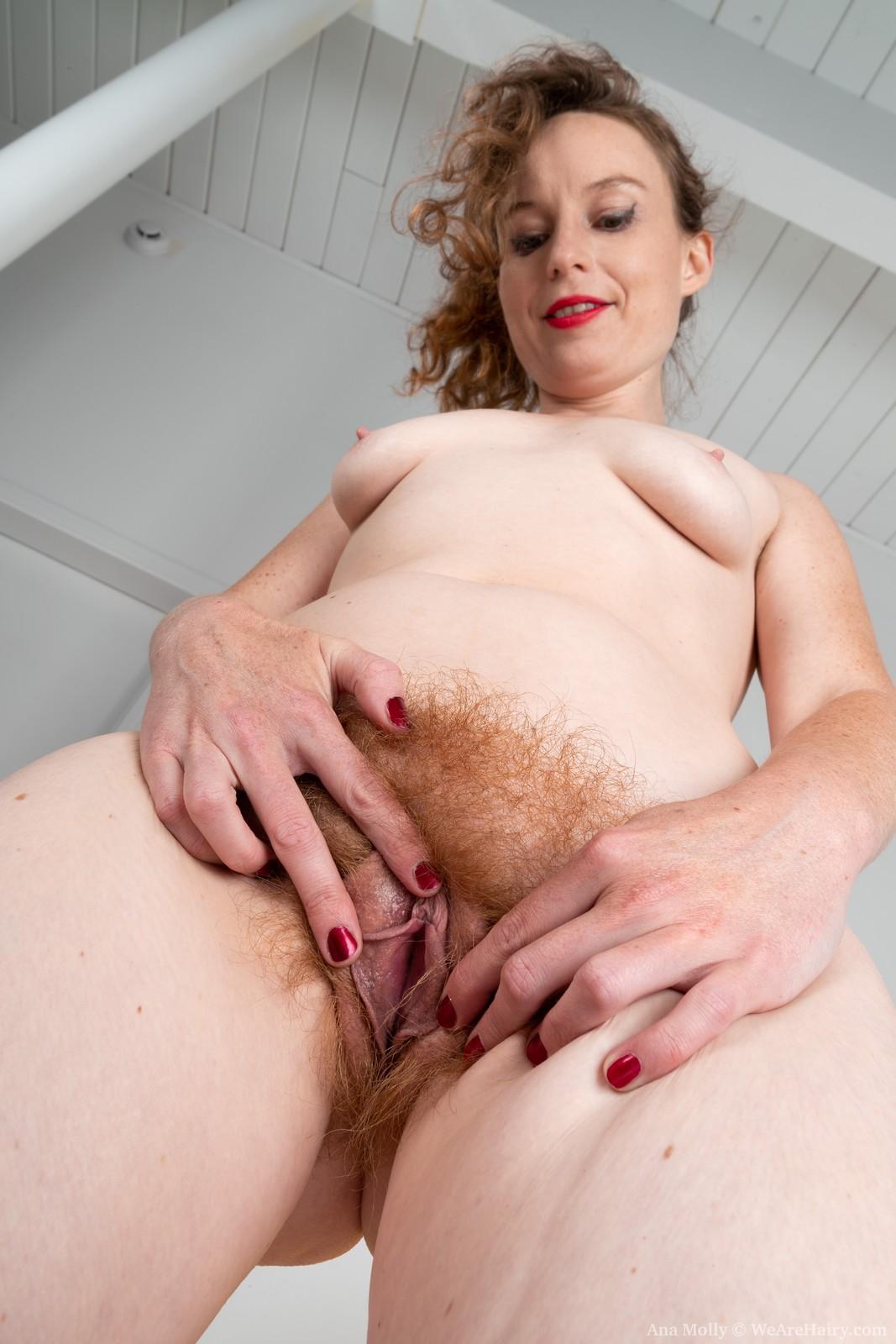 Ana Molly masturbating hairy twat