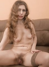 Russian hairy MILF Elza
