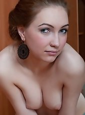 Magda has silver balls to place in her furry pussy